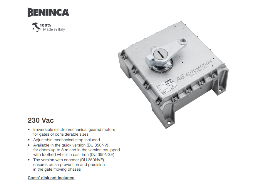 motor cổng beninca ag ba1000