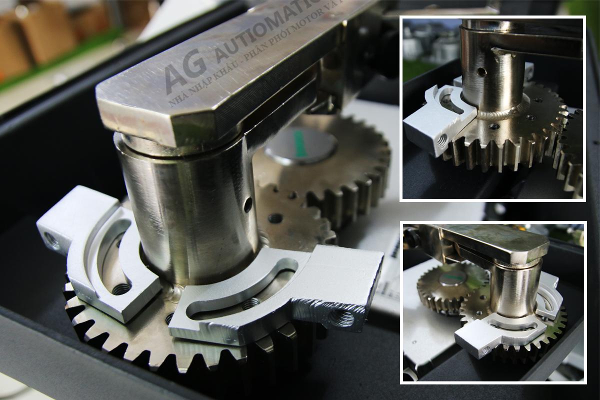 cơ cấu bánh răng motor âm sàn beninca ba1000 góc mở lên đến 180 độ
