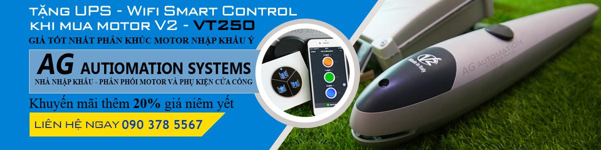Mua motor tay đòn V2 VT250 tặng UPS, Wifi Smart Control