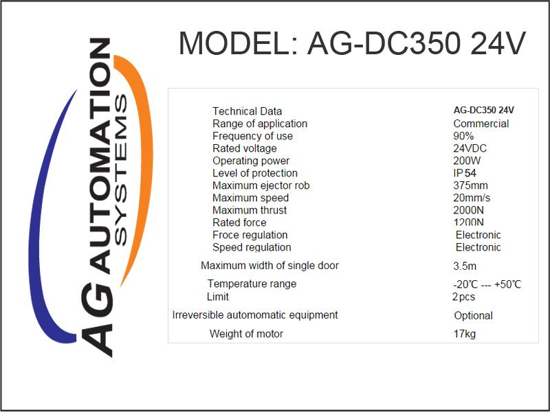 Thông số AG DC 350 24V